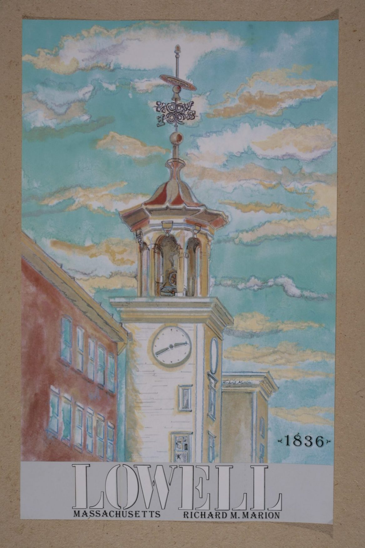 """Boott Clock Tower"" by Richard Marion (c) 2014"