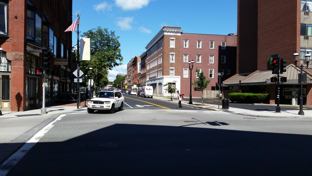 Downtown Lowell: still hazardous for walkers